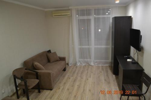 A seating area at квартира 45 кв.м у моря