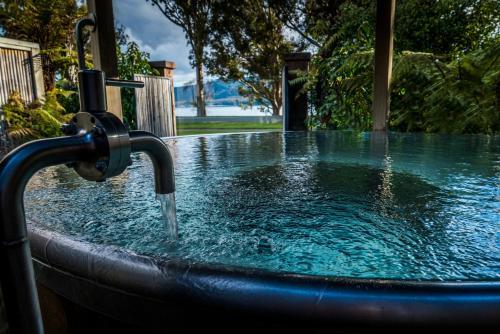 The swimming pool at or near Getaway Te Anau
