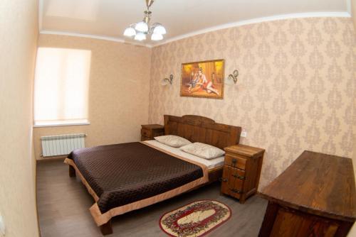 Кровать или кровати в номере Отель 1001 Ночь