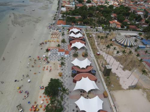 A bird's-eye view of Casa da Mari no Centro de Madre de Deus