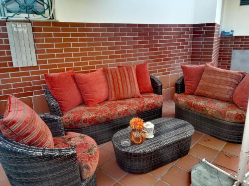 Кът за сядане в Downtown Plovdiv Family Hotel