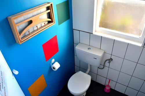 A bathroom at 42b College House