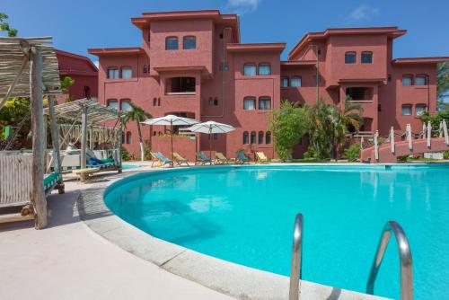 The swimming pool at or near Selina Cancun Laguna Hotel Zone