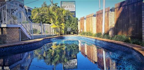 The swimming pool at or near Limassol Motel