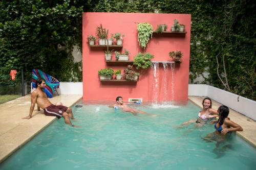 The swimming pool at or near Caravan BA | Hostel Boutique