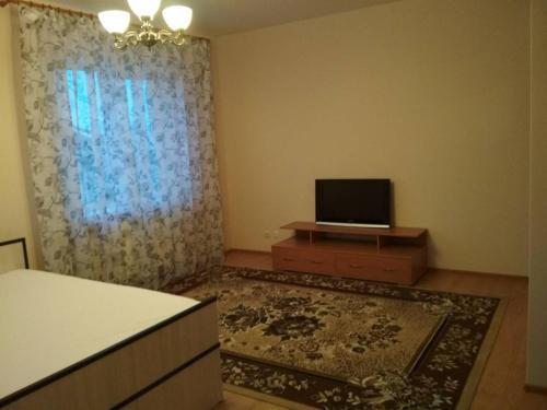Телевизор и/или развлекательный центр в Apartment on Leytenanta Katina
