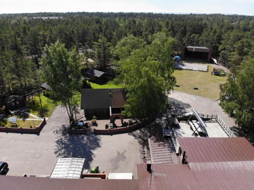 Ett flygfoto av Viking Motel