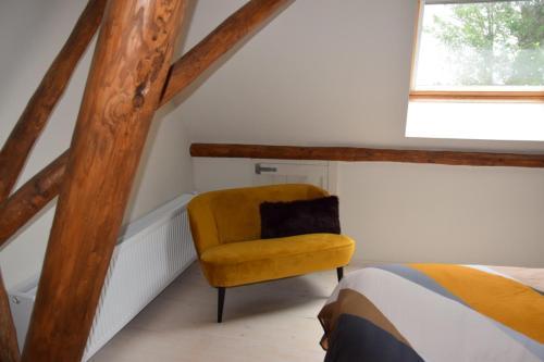 Een bed of bedden in een kamer bij De Hocht