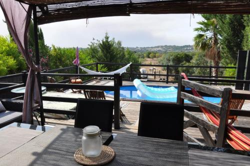 A view of the pool at Casa Madeira or nearby