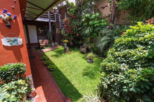 A garden outside Casa Wayra B&B Miraflores