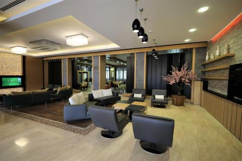 The lobby or reception area at Fimar Life Thermal Resort Hotel