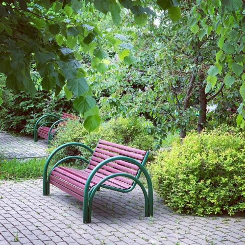 A garden outside Hotel Dom Uchenykh