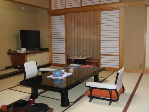A seating area at Yuzawa Grand Hotel