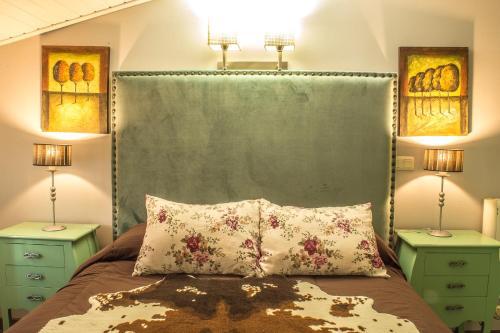 Cama o camas de una habitación en Vivienda Rural Rio Cerezuelo