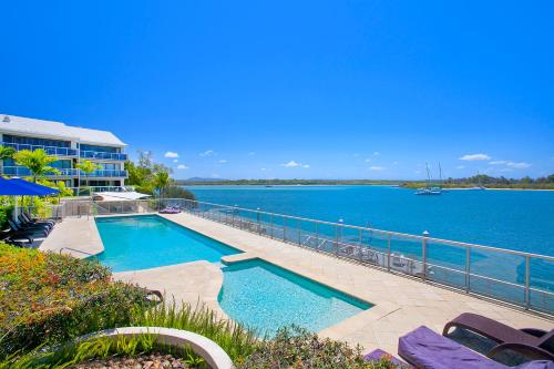 The swimming pool at or near Noosa Shores Resort