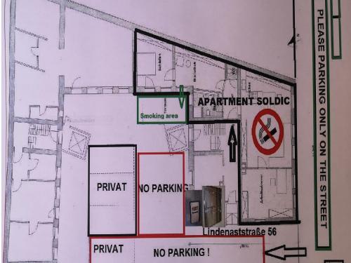 The floor plan of Ferien Wohnung Soldic
