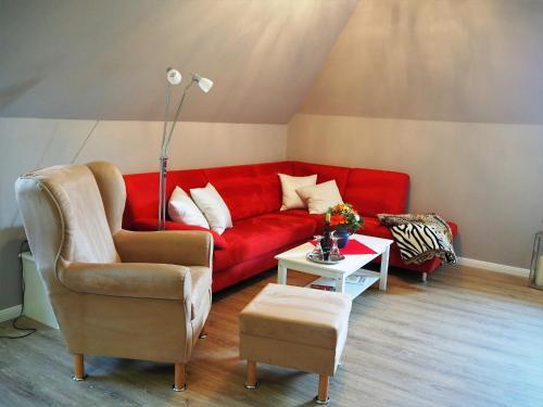 Ein Sitzbereich in der Unterkunft Suite in Nieblum - Martina Christiansen