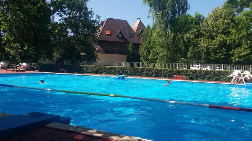 The swimming pool at or near Kék vitorlás apartman