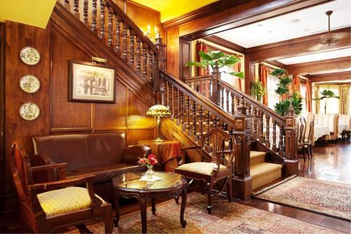 El vestíbulo o zona de recepción de Grano de Oro Hotel