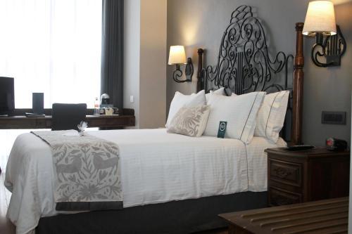 Cama o camas de una habitación en Hotel Zocalo Central