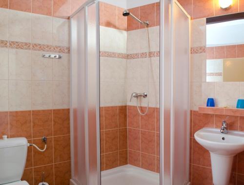 Koupelna v ubytování Pension Fuka