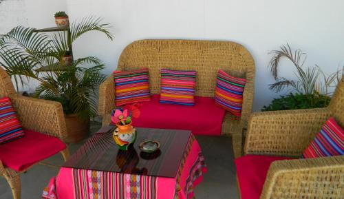 A seating area at Yoly's House