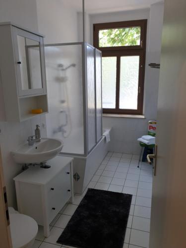 A bathroom at Avenue Das Gästehaus