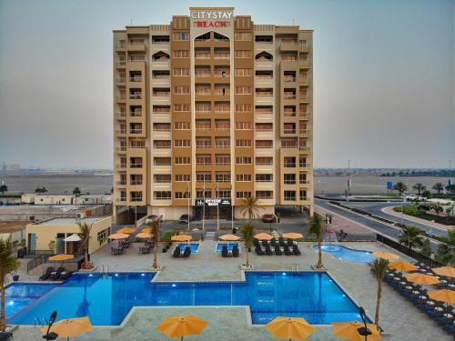 A view of the pool at City Stay Beach Hotel Apartments - Marjan Island or nearby