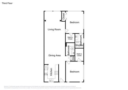 The floor plan of Treasure Island Waterfront Condo