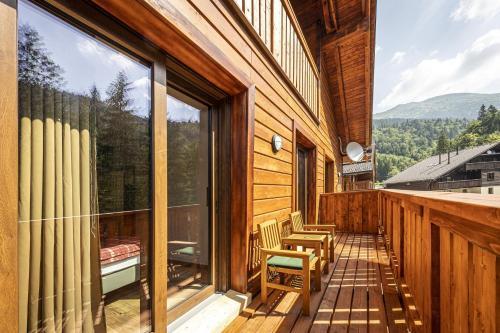 Balkón alebo terasa v ubytovaní Apartmánový dom Poludnica - Chopok Juh