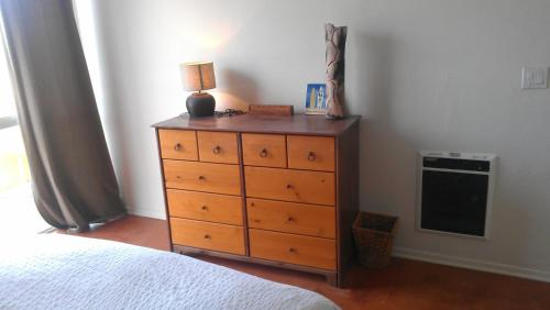 A television and/or entertainment center at Ocean Front/View Bunk beds Free bikes