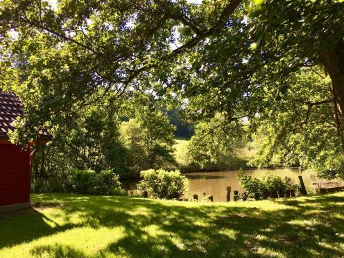 Ein Garten an der Unterkunft Schlößlesmühle