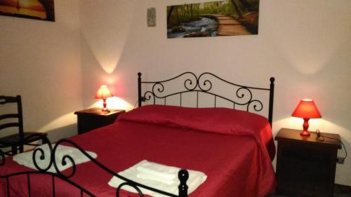 Ein Bett oder Betten in einem Zimmer der Unterkunft Hotel California