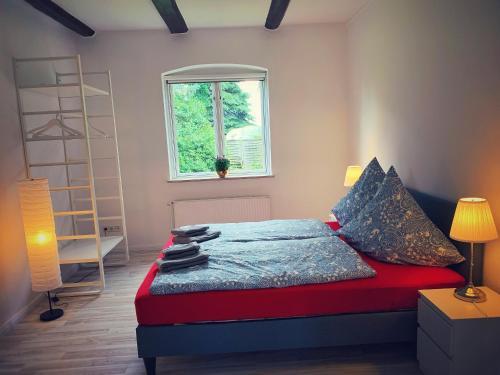 Ein Bett oder Betten in einem Zimmer der Unterkunft Schickes Landhaus in Koselau&Ostsee
