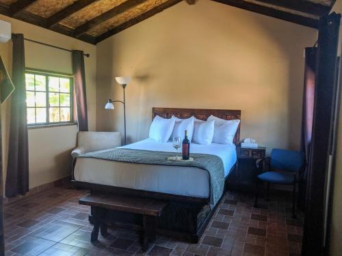 Cama o camas de una habitación en Posada Inn Mision de Guadalupe