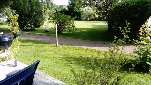 A garden outside Stuga Pilavägen