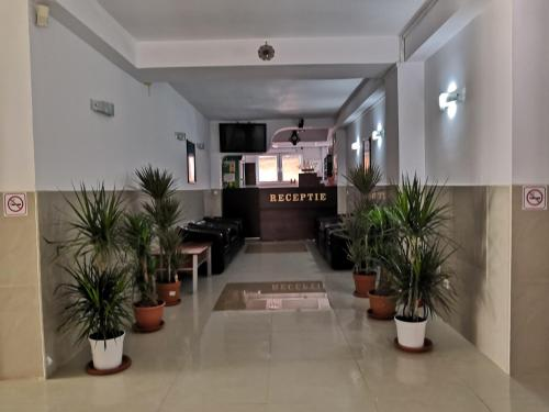 The lobby or reception area at Hotel Prestige