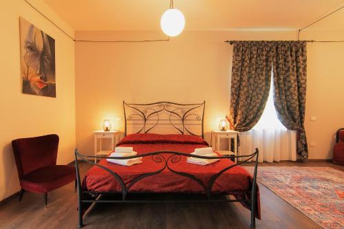 Letto o letti in una camera di San Paterno B&B