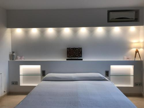 A bed or beds in a room at House in Barcelona province