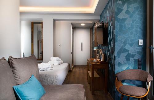מיטה או מיטות בחדר ב-360Degrees Pop Art Hotel
