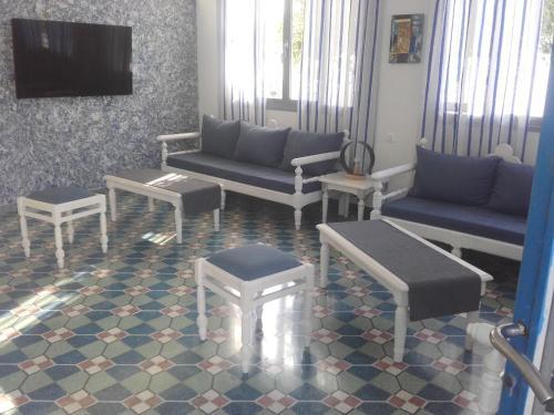Χώρος καθιστικού στο Serifos Beach Hotel