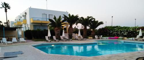The swimming pool at or near Leonidas Hotel & Studios