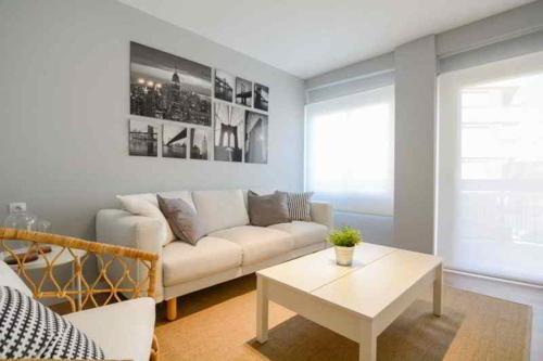 Zona de estar de Apartamento moderno en pleno centro de Castellón.