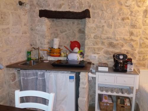 A kitchen or kitchenette at Il Castello