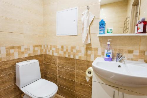 A bathroom at White crocus near Crocus Expo