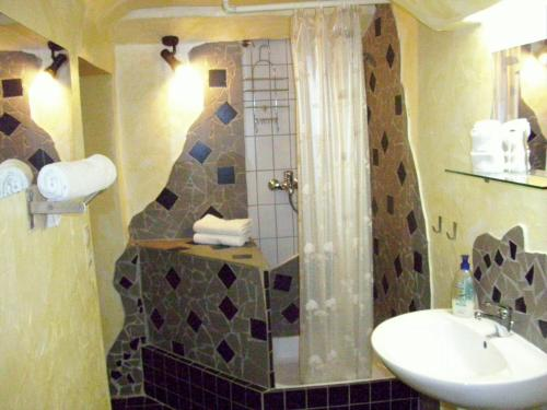 A bathroom at Fritzis Art Hotel