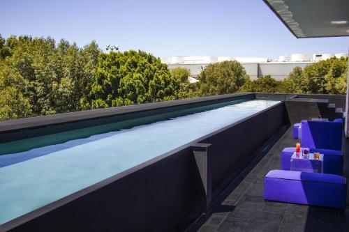 The swimming pool at or near La Purificadora