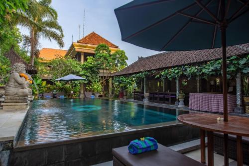 The swimming pool at or near Ubud Aura Retreat
