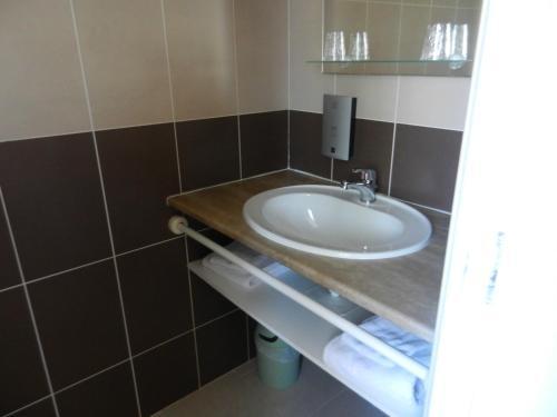 Salle de bains dans l'établissement Auberge De La Plaine