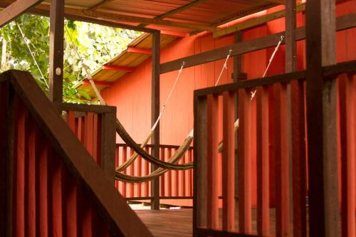 A balcony or terrace at La Ceiba, Amazonas